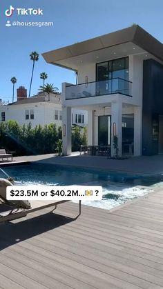 Pouvez-vous deviner le prix d'inscription? Luxury Homes Exterior, Luxury Modern Homes, Luxury Homes Dream Houses, Dream House Exterior, Interior Modern, Modern Exterior, Home Interior, Dream Homes, Interior Design