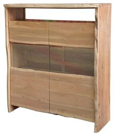 LIVE EDGE Highboard #105 Akazie Massiv Lackiert