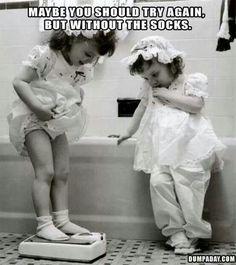 Take the socks off girl!