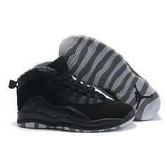 Air Jordan 10 X Black Gray Shoes For $56.00 Go To:  http://www.basketball-mall.com