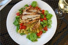 Spiced Chicken with Couscous Salad. Click image for recipe.