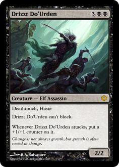 Drizzt Do'Urden magic card