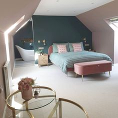 Small Loft Bedroom, Small Attic Room, Attic Master Bedroom, Attic Bedrooms, Loft Room, Bedroom With Ensuite, Large Bedroom, Small Loft Spaces, Loft Conversion Ensuite