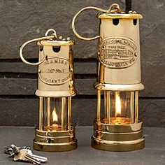 Brass Table Top Oil Lamps are charming for outdoor living or a table top.
