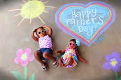 I took a stab at this photo idea from Crafty Texas Girls blog for Father's Day. My 2 year old and 5 month old weren't quite cooperative with posing as her older girls obviously were, but overall I'm happy with the outcome!