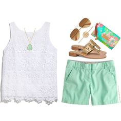 Love this outfit! The colors are so grear! I have short like this, just need the top and accessories...love me some Lilly....wish I could afford it. Though I did pick up a few pieces at Target!