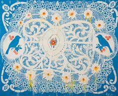 Blue Birds (Lace Series) - Robert Zakanitch Artist: Robert Zakanitch Completion Date: 2001
