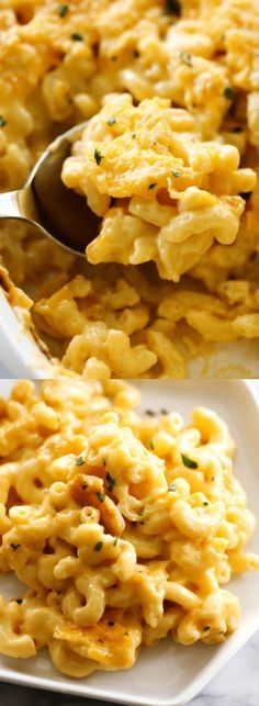 This Best Ever Mac and Cheese is mom's famous recipe… not our mom's recipe, but Nikki over at Chef in Training's mom! It is creamy, cheesy, and completely and totally addictive!