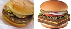Wendy, where is the hot and juicy square patties, its your trademark, even if its kinda creepy at the same time False Advertising, Junk Food, Hamburger, Creepy, Ethnic Recipes, Hot, Burgers