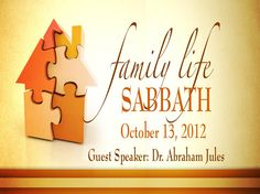 Bulletin Banner - Family Life Sabbath 10.13.12