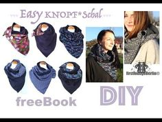 Easy KNOPF*Schal freEBOOK Nähanleitung DIY firstloungeberlin - YouTube