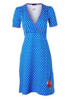 Blauw polkadot jurkje Provence