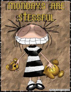 Monday soooo stressful. .......           Dazzle Junction.Com. ....