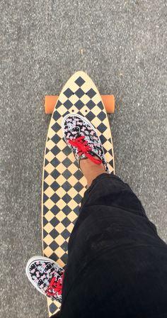 My Checkered longboard(Tokidoki board) and my HK Vans❤️ 42a8e579b8a