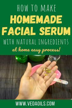 Face Serum Diy, Facial Serum, Homemade Facials, Homemade Beauty, How To Do Facial, Edgy Makeup, Facial Treatment, Skin Products, Combination Skin