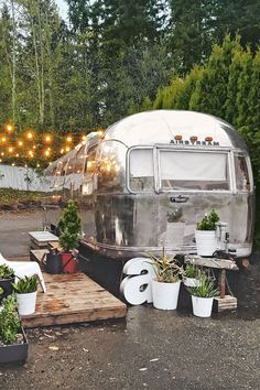 Tagged: Exterior, Airstream Building Type, Metal Siding Material, and Metal Roof Material. Photo 2 of 18 in A Couple Transform a Vintage Airstream Into a Scandinavian-Inspired Tiny Home Airstream Bambi, Airstream Vintage, Caravan Vintage, Airstream Remodel, Vintage Rv, Airstream Trailers, Vintage Trailers, Vintage Campers, Vintage Motorhome