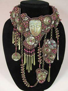 Antigua Bead Embroidered Collar. $ 6,995.00, via Etsy.