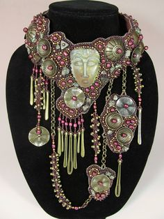 Antigua Bead Embroidered Collar. $ 6,995.00, via Etsy.
