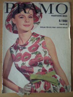 PRAKTISCHE MODE PRAMO 6/1964 + Schnittmusterbogen DDR-Mode-Magazin | eBay