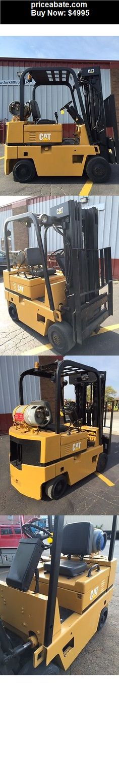 Heavy-Equipments: CATERPILLAR CUSHION T50 5000LB FORKLIFT LIFT TRUCK - BUY IT NOW ONLY $4995