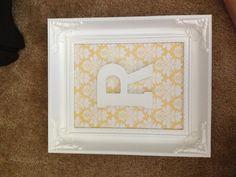 Frame letter and scrapbook paper
