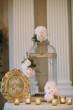 Wedding Card & Gift table #weddingdecor #frenchinspired #frenchweddingtheme