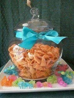 Bugles as seashells for mermaid party