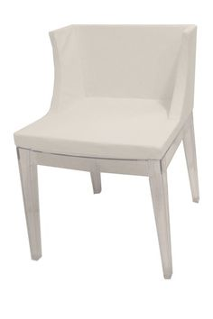 Marcia Faux Leather Dining Chair - White by PANGEA/home on @HauteLook