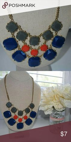 Blue/grey/orange statement necklace Blue/grey/orange statement necklace Jewelry Necklaces