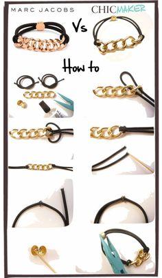   Tutoriel DIY : Bracelet Marc By Marc Jacobs Versus @Chic Maker :)