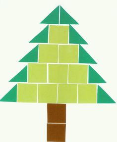 accurately measure squares and draw to create this christmas tree Christmas Crafts For Toddlers, Toddler Crafts, Holiday Crafts, Thanksgiving Preschool, Alternative Christmas Tree, Theme Noel, Kindergarten Art, Noel Christmas, Triangles