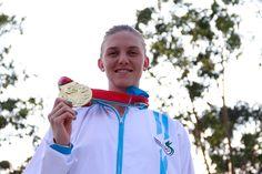 La guatemalteca, Gisela Morales Valentín, volvió a brillar en la piscina María del Milagro Paris, en el Parque La Sabana, y le dio a Guatemala la medalla de oro número 100, con la cual selló definitivamente la ventaja en el Medallero de los X Juegos Centroamericanos, San José 2013