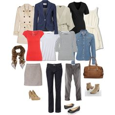 """This is very close to what I'm trying to get to for spring. -- """"Classic Spring Capsule Wardrobe"""" by nanne70 on Polyvore"""