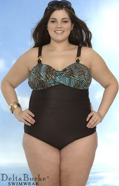 nice swimsuit plus size model
