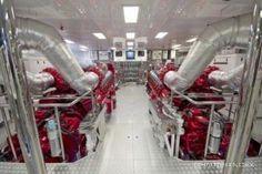 Engine room - MR. TERRIBLE Yacht - AJ MacDonald - Yacht Broker - ajmacdonald@camperandnicholsons.com