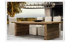 Aspen | Restoration Hardware Railroad Tie Table