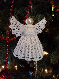 crochet angel with swarowski crystals