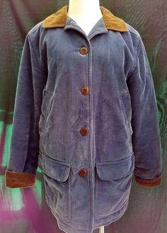 Womens LL Bean Vintage Corduroy Field Coat Thinsulate Medium Cotton RN 71341…
