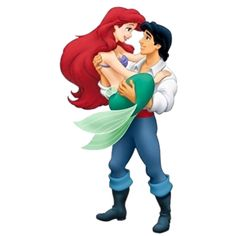 Eric holding Ariel in his arms