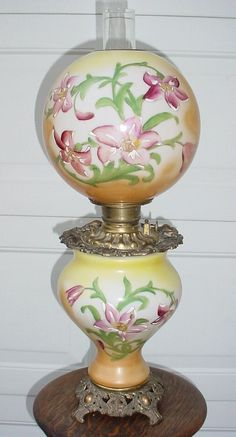 Victorian Hand-Painted with Lilies