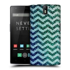 Amazon.com: Head Case Designs Glitter Chevron Trend Mix Protective Snap-on Hard Back Case Cover for OnePlus One: Cell Phones & Accessories