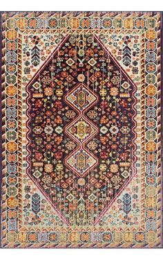 """$288 for 7'10"""" x 11' rectangle Chroma Vibrant Meadow CB15 Rug.  Color: MULTI 100% polypro machine made in Turkey"""