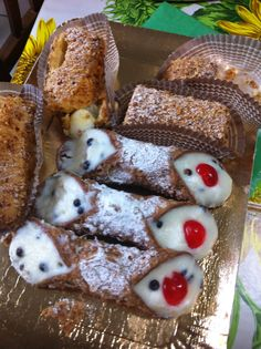 """Cannoli""  typical sicilian dessert"