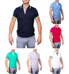 Polo uomo manica corta slim fit 7 colori TWIG #negozio #modauomo #vendita #abbigliamento