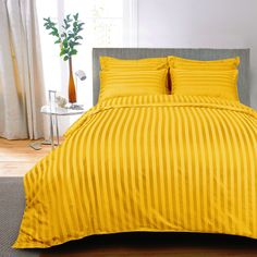 With over 100 years of legacy, offers an online shop for luxury bed & bath linen made of finest quality Egyptian cotton in high thread count, made in India. Yellow Bed Sheets, Yellow Bedding, Striped Bedding, Linen Bedding, Bed Linens, Comforter, Bed Sheets Online, Cheap Bed Sheets, Bedding Sets Online