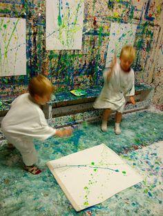 Splatter paint floor