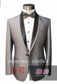 Wholesale-Free-shipping-Design-Groom-Silk-polyester-Tuxedos-Wedding-Groomsman-Men-Bridegroom-Suits-bright-Gray-Suit.jpg (600×893)