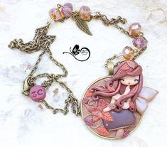 polymer clay necklace / fairy / clay / fimo / zingara creativa / september doll