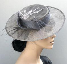 Kentucky Derby Hat, Wedding Hat, Gray Boater Hat, Ladies Formal Hat, Women's Boater Hat Boater Hat, Fedora Hat, Stussy Bucket Hat, Kate Middleton Hats, Royal Ascot Hats, Hat Cake, Cowgirl Hats, Church Hats, Fancy Hats