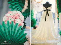 Eye Candy: Sparkle Bridal Couture's June Window Display — photos courtesy and copyright Sarah Maren Photographers, www.sarahmaren.com; featuring Sparkle Bridal Couture, www.sparklebridalcouture.com; Kate Miller Events, www.katemillerevents.com; Flourish, www.flourishdesigns.com; and Sweet Cakes by Rebecca, www.sweetcakes.biz. From the Eye Candy blog post on Real Weddings Magazine's Web site: www.realweddingsmag.com/real-weddings-eye-candy-sparkle-bridal-coutures-june-window-display.